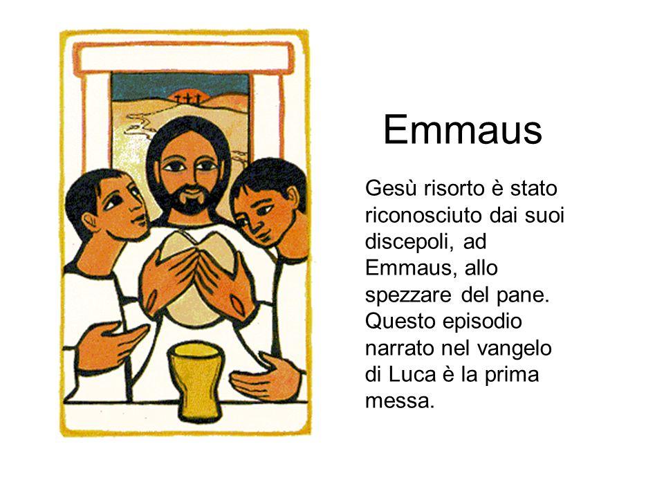 Emmaus Gesù risorto è stato riconosciuto dai suoi discepoli, ad Emmaus, allo spezzare del pane. Questo episodio narrato nel vangelo di Luca è la prima