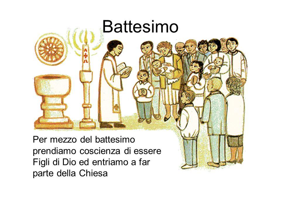 Per mezzo del battesimo prendiamo coscienza di essere Figli di Dio ed entriamo a far parte della Chiesa Battesimo