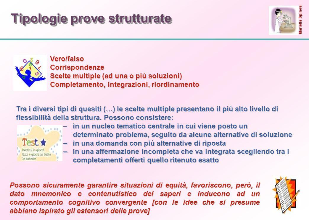 25 Tipologie prove strutturate Vero/falsoVero/falso CorrispondenzeCorrispondenze Scelte multiple (ad una o più soluzioni)Scelte multiple (ad una o più