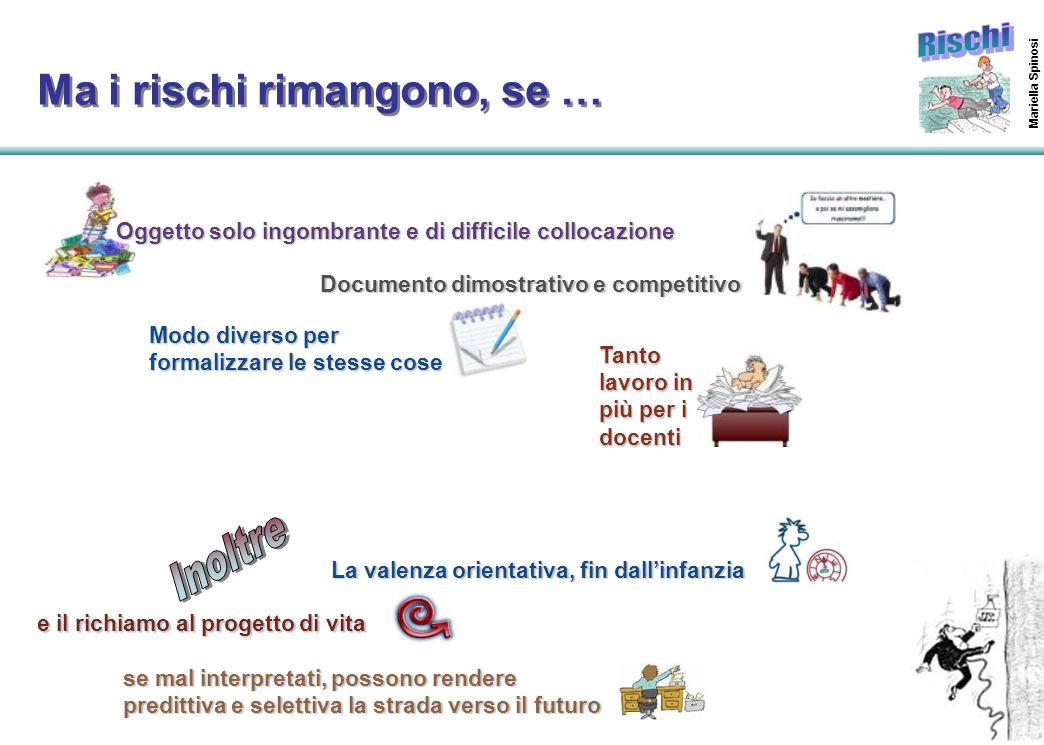 51 Mariella Spinosi Ma i rischi rimangono, se … La valenza orientativa, fin dall'infanzia Documento dimostrativo e competitivo Oggetto solo ingombrant
