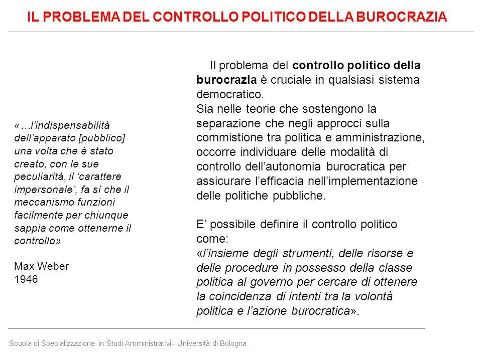 Scuola di Specializzazione in Studi Amministrativi - Università di Bologna «…l'indispensabilità dell'apparato [pubblico] una volta che è stato creato,