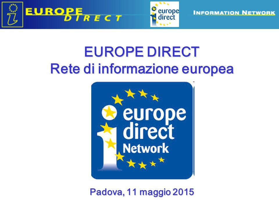 Funzione di RIPETITORE dei messaggi dell'Europa DA/A EUROPA  CITTADINO LA RETE DI ANTENNE EUROPE DIRECT Nella strategia di comunicazione della Commissione Europea (principio Go local!) => DG COMM