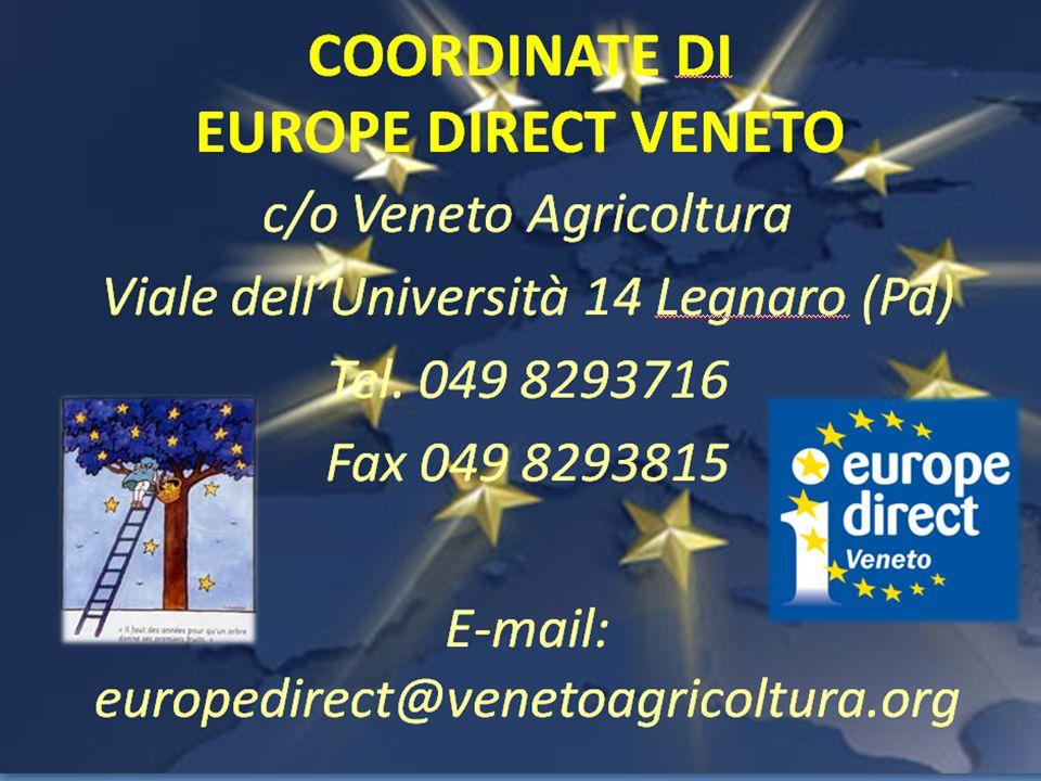 PASSATO La Provincia di Verona è il punto informativo europeo più giovane del Veneto: nasce nel 2008 PRESENTE Si candida al nuovo bando europeo per il quinquennio 2013-2017 e dal 2014 riprende l'attività di punto informativo EUROPE DIRECT Filodiretto con l'Europa