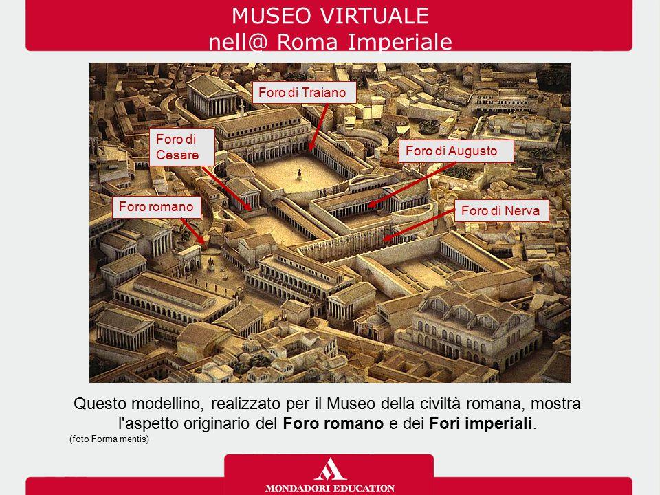 MUSEO VIRTUALE nell@ Roma Imperiale Questo modellino, realizzato per il Museo della civiltà romana, mostra l'aspetto originario del Foro romano e dei