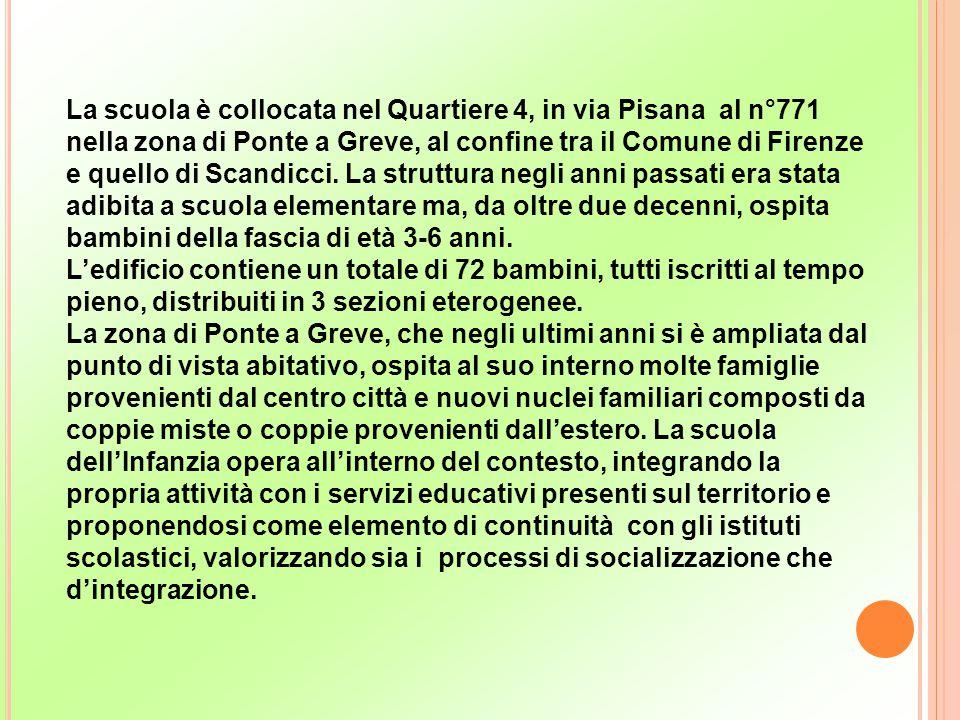 La scuola è collocata nel Quartiere 4, in via Pisana al n°771 nella zona di Ponte a Greve, al confine tra il Comune di Firenze e quello di Scandicci.