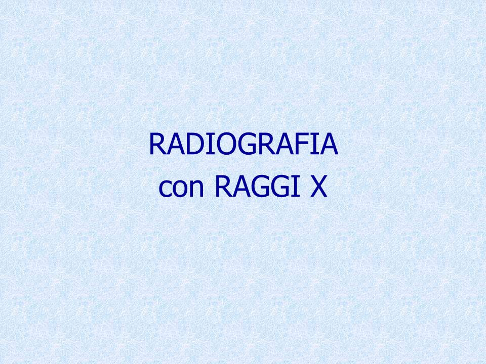 L'immagine radiografica, ottenuta mediante accostamento di lastre esposte singolarmente mette in risalto la difficoltà di ottenere una buona mosaicatura.