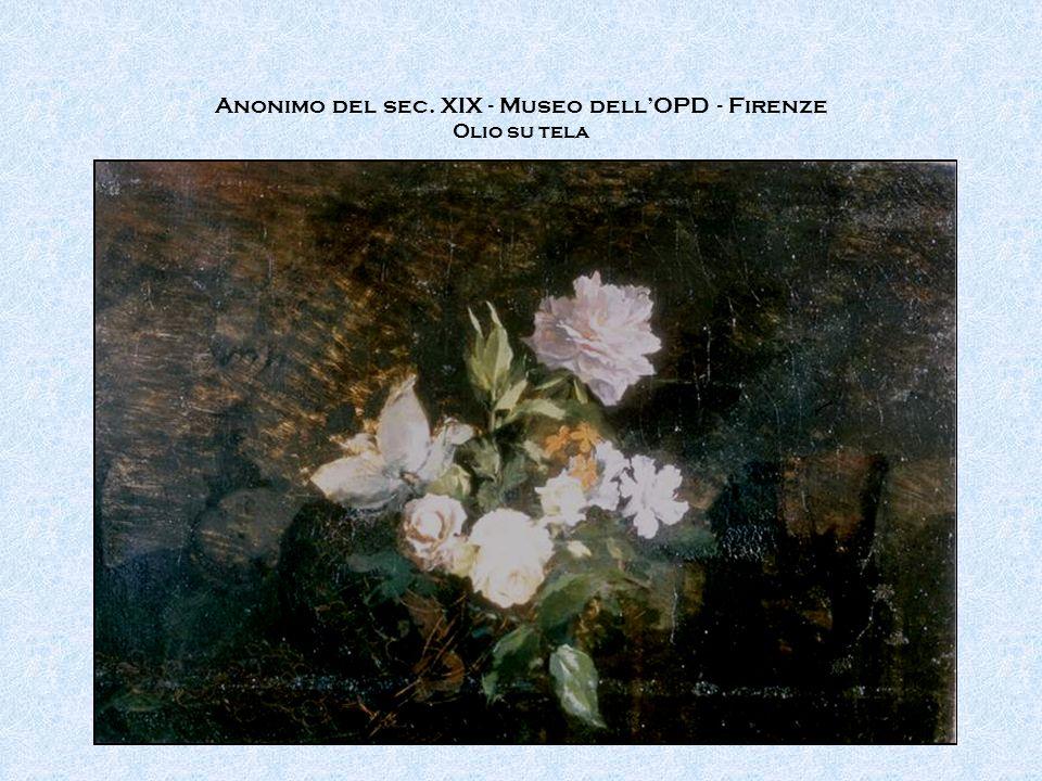 Anonimo del sec. XIX - Museo dell'OPD - Firenze Olio su tela