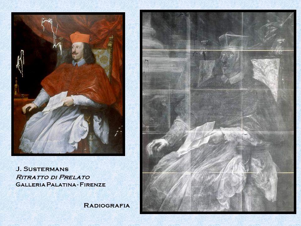 Radiografia J. Sustermans Ritratto di Prelato Galleria Palatina - Firenze