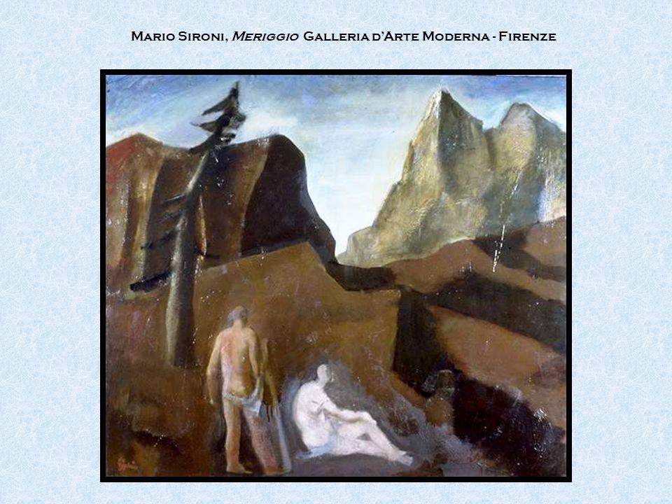 Mario Sironi, Meriggio Galleria d'Arte Moderna - Firenze
