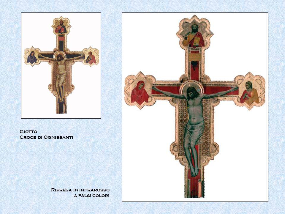 Giotto Croce di Ognissanti Ripresa in infrarosso a falsi colori