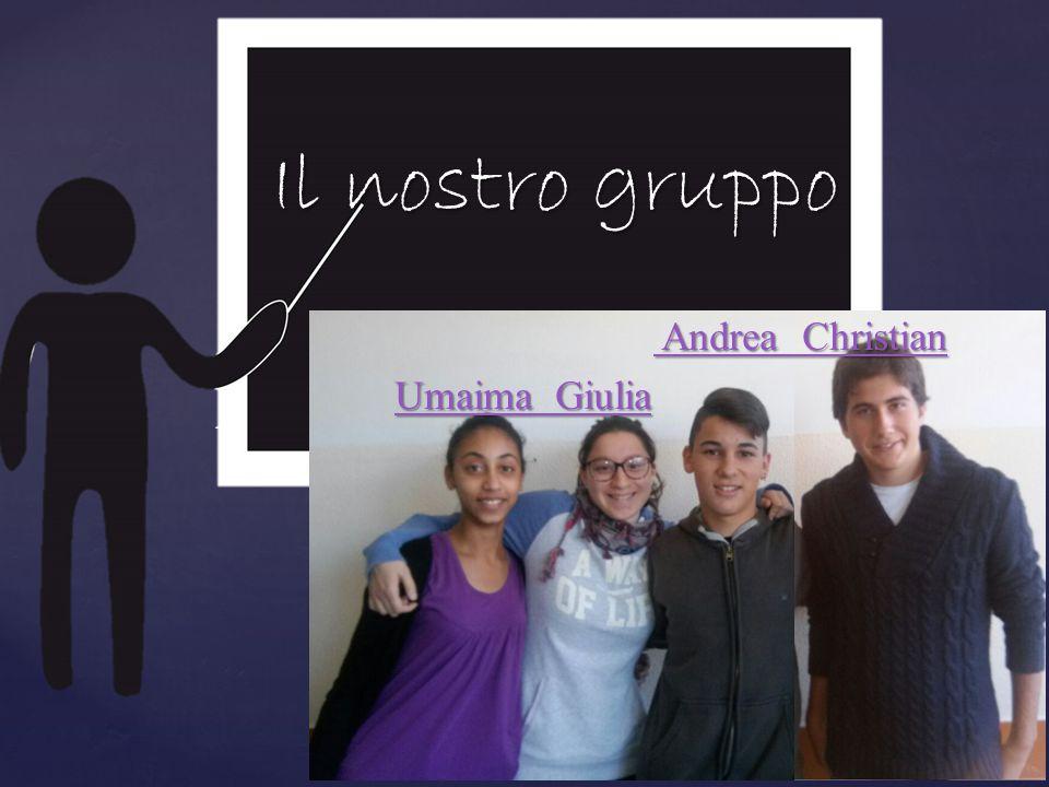 { Il nostro gruppo Andrea Christian Andrea Christian Umaima Giulia Umaima Giulia