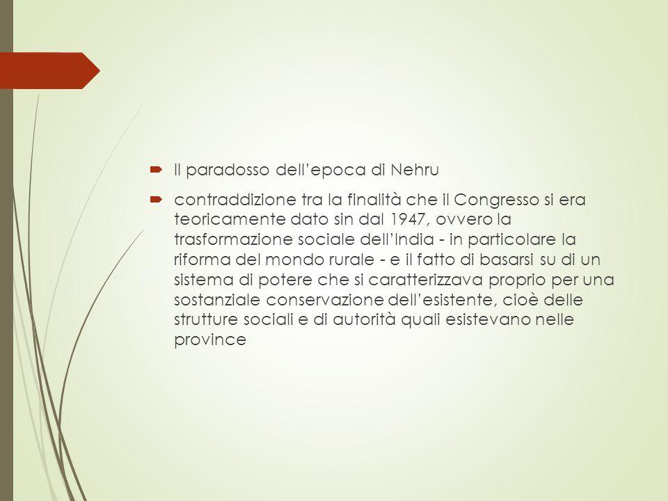  Lo schema di Kothari ci ha mostrato la struttura orizzontale del sistema Congresso  Il carattere flessibile ma intrinsecamente conservatore del Congress è ancora più evidente se guardiamo la cosa da un punto di vista verticale
