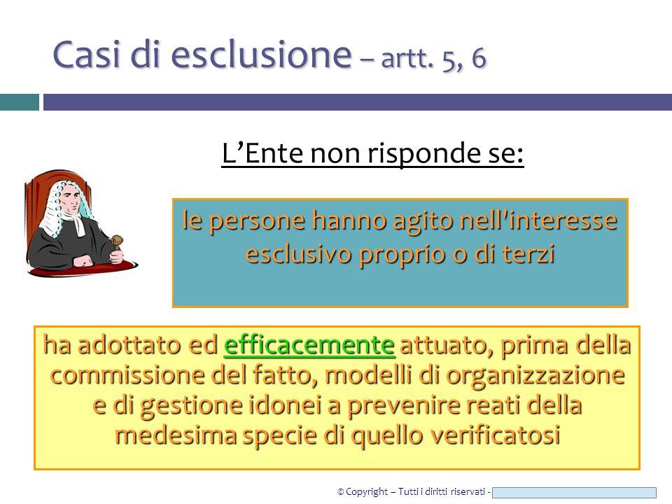 © Copyright – Tutti i diritti riservati - Studio Legale CAROZZI & ASSOCIATI Casi di esclusione – artt.