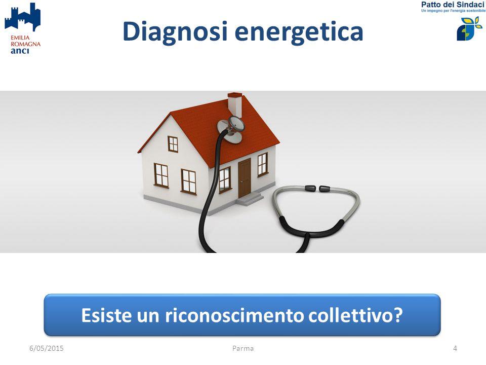 Diagnosi energetica 6/05/2015Parma4 Esiste un riconoscimento collettivo