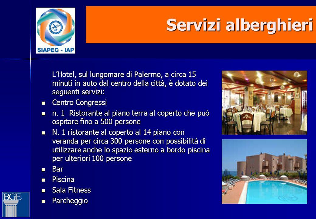 Servizi alberghieri sul lungomare di Palermo, a circa 15 minuti in auto dal centro della città, è dotato dei seguenti servizi: L'Hotel, sul lungomare