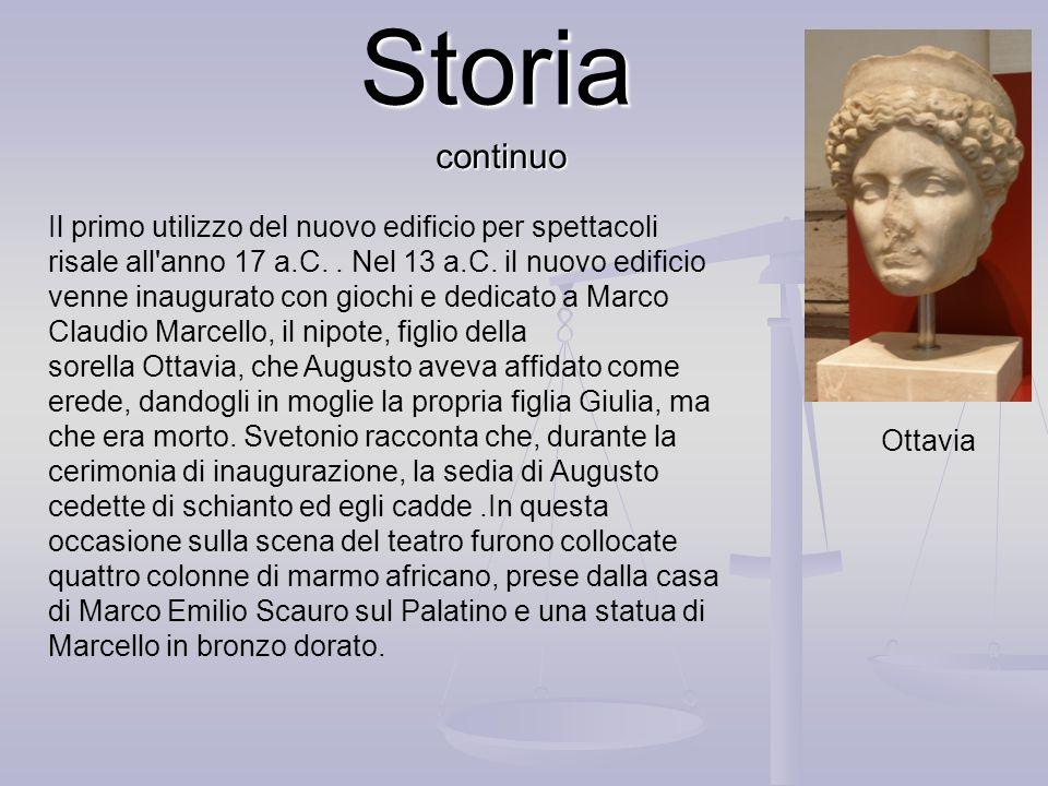 Storia Giulio Cesare progettò la costruzione di un teatro, destinato a competere con quello costruito nel Campo Marzio da Pompeo. A questo scopo venne