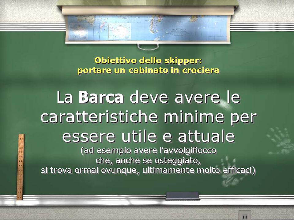 Obiettivo dello skipper: portare un cabinato in crociera La Barca deve avere le caratteristiche minime per essere utile e attuale (ad esempio avere l