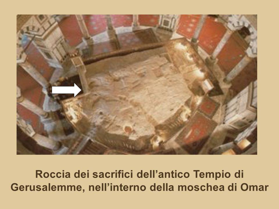 Roccia dei sacrifici dell'antico Tempio di Gerusalemme, nell'interno della moschea di Omar
