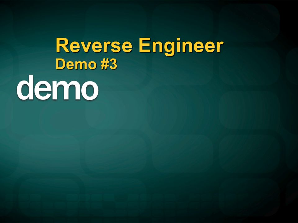 Reverse Engineer Demo #3