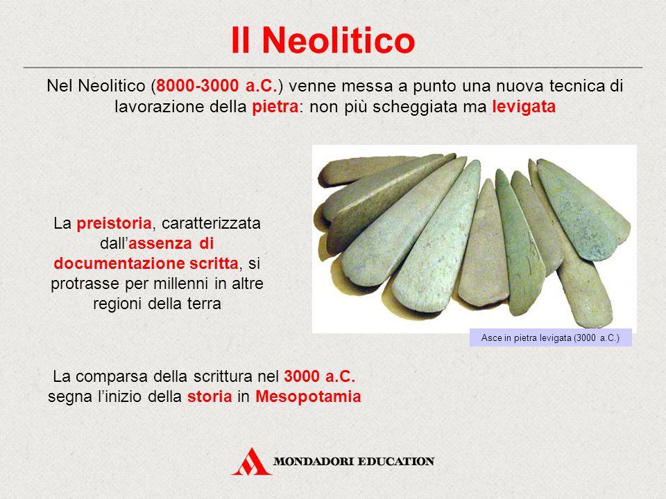 La rivoluzione agricola neolitica Durante il Neolitico, tra l'8000 e il 6000 a.C.