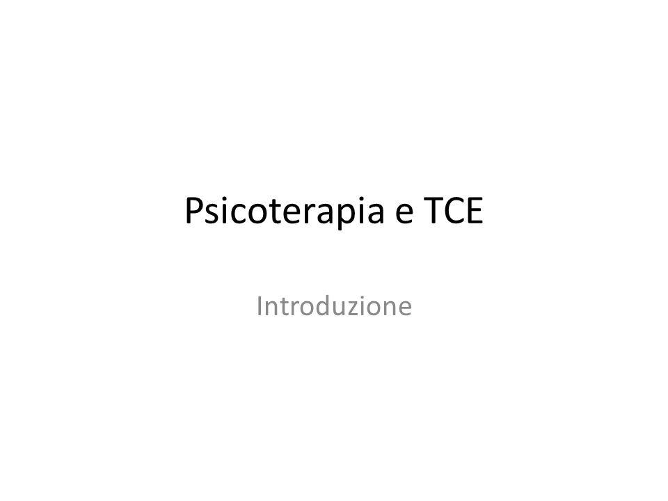 Psicoterapia e TCE Introduzione