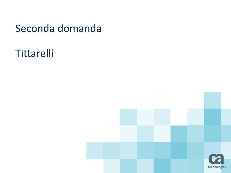 Seconda domanda Tittarelli