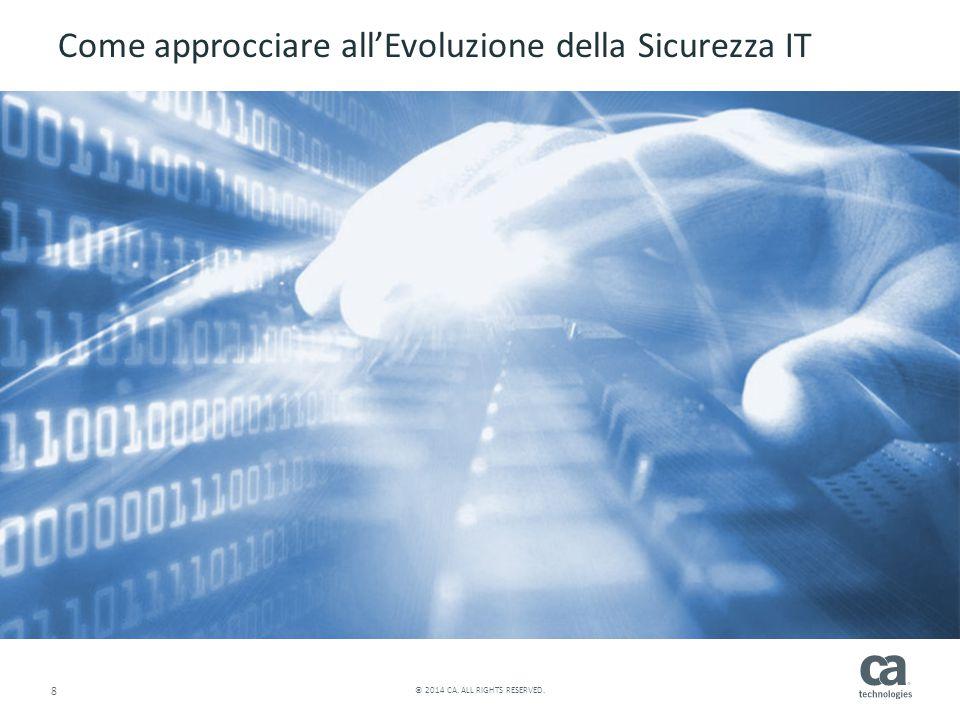 8 © 2014 CA. ALL RIGHTS RESERVED. Come approcciare all'Evoluzione della Sicurezza IT