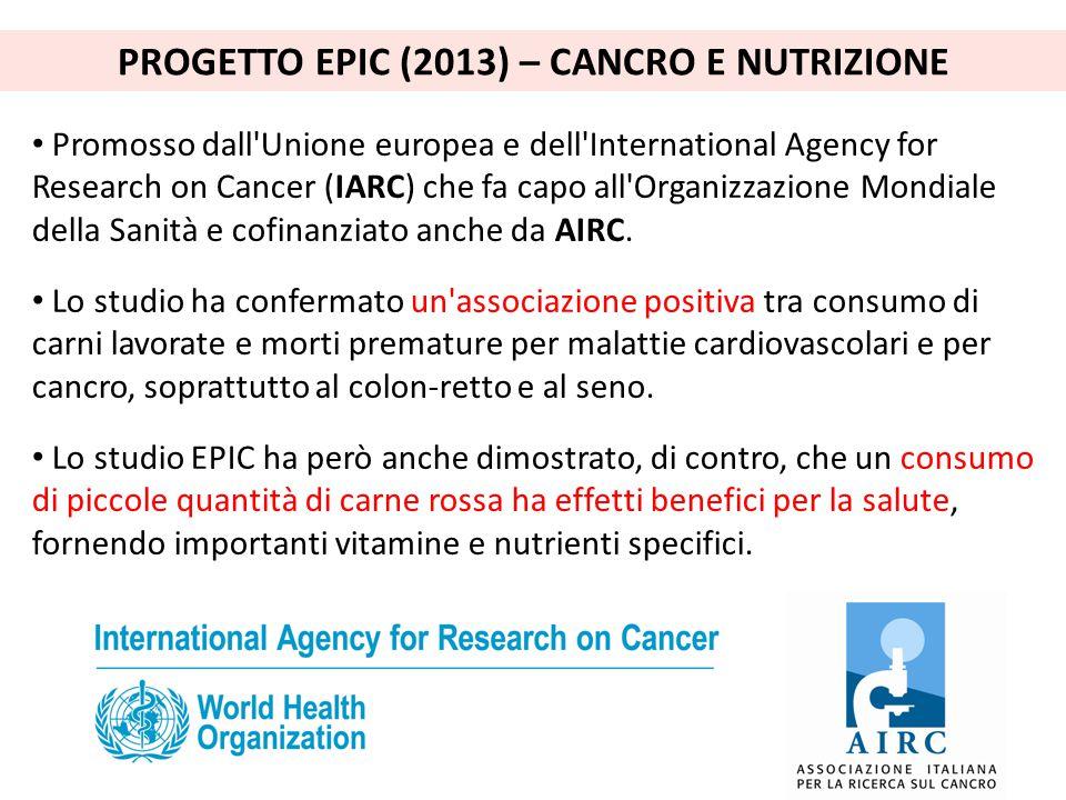 Promosso dall'Unione europea e dell'International Agency for Research on Cancer (IARC) che fa capo all'Organizzazione Mondiale della Sanità e cofinanz