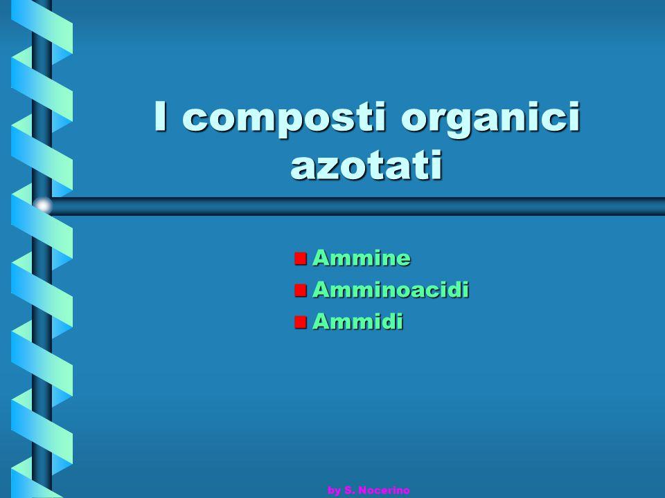 I composti organici azotati AmmineAmminoacidiAmmidi by S. Nocerino