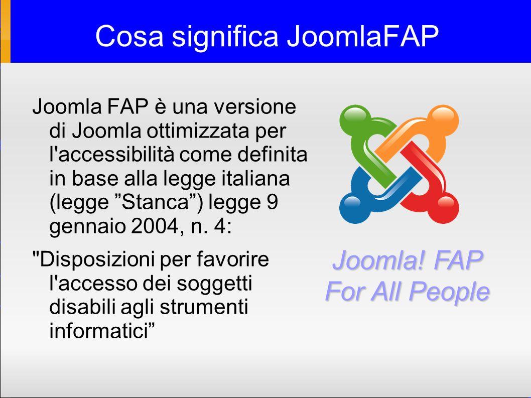 Perchè JoomlaFAP .