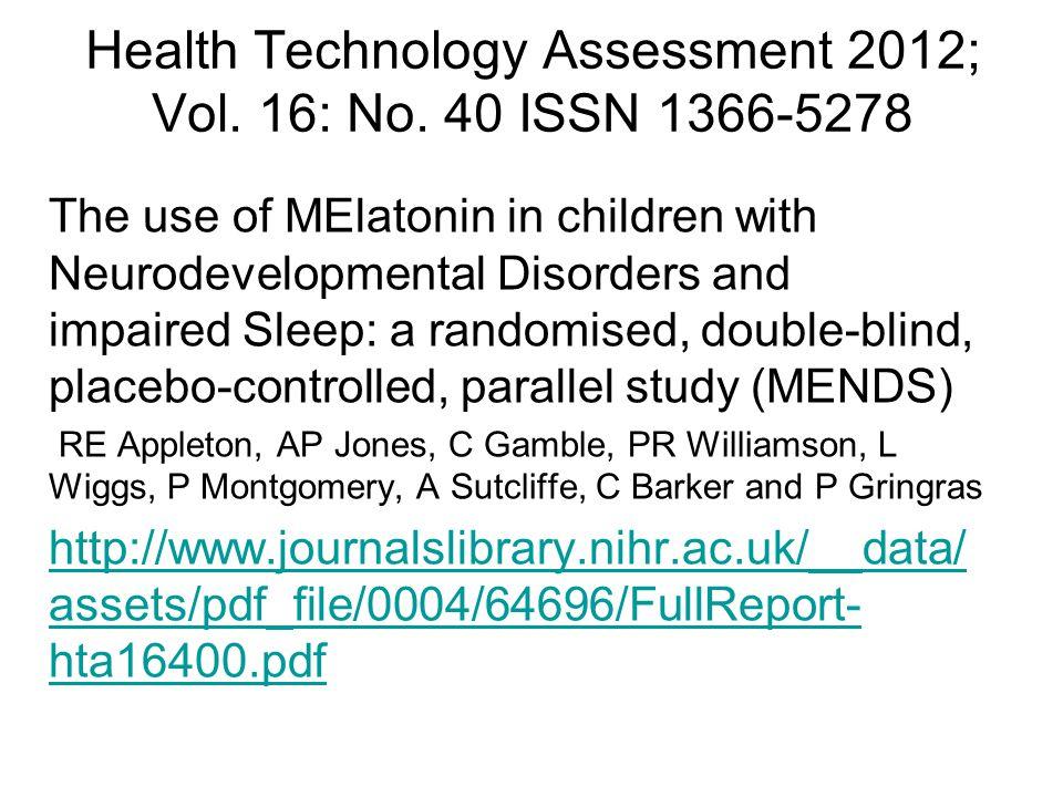 Health Technology Assessment 2012; Vol.16: No.