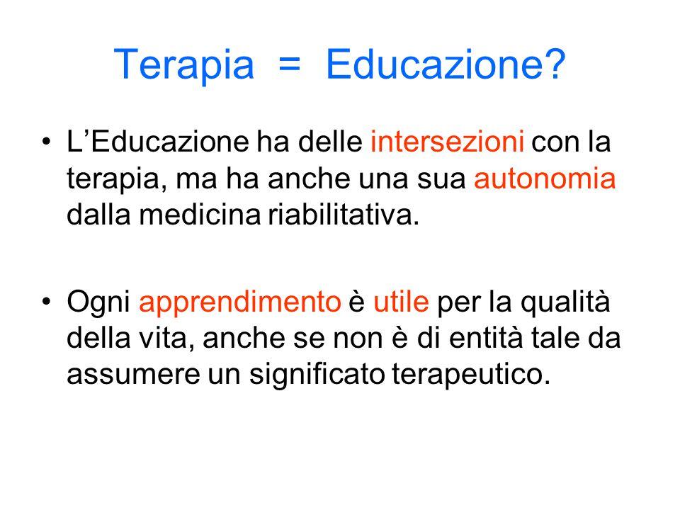 Terapia = Educazione.