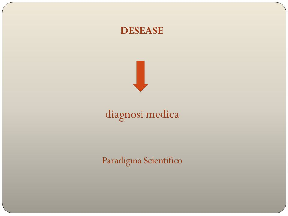 diagnosi medica Paradigma Scientifico DESEASE
