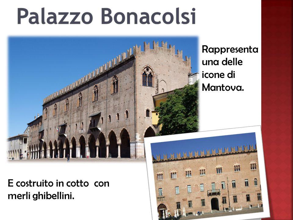 Rappresenta una delle icone di Mantova. E costruito in cotto con merli ghibellini.