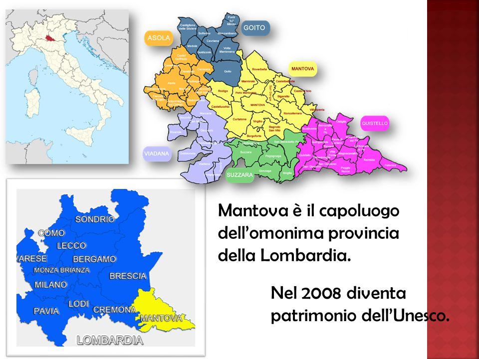 Mantova è il capoluogo dell'omonima provincia della Lombardia.