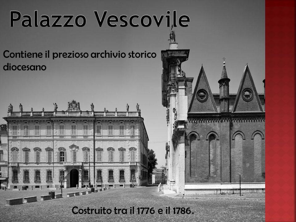 Contiene il prezioso archivio storico diocesano Costruito tra il 1776 e il 1786.
