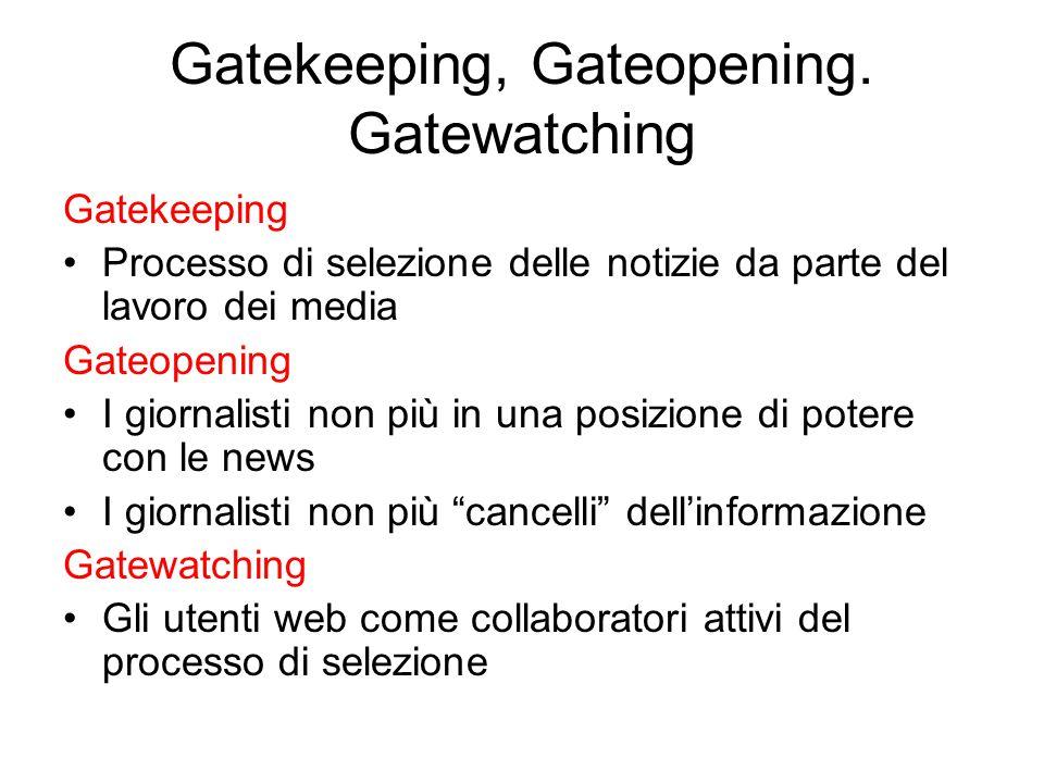 Gatekeeping, Gateopening.