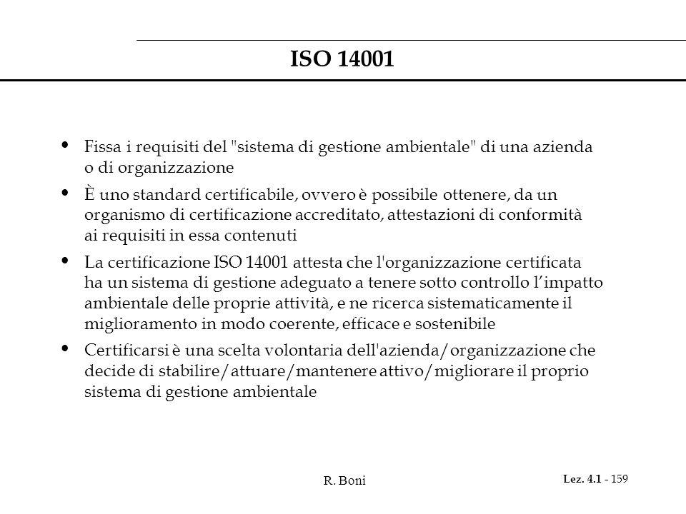 R. Boni Lez. 4.1 - 159 ISO 14001 Fissa i requisiti del