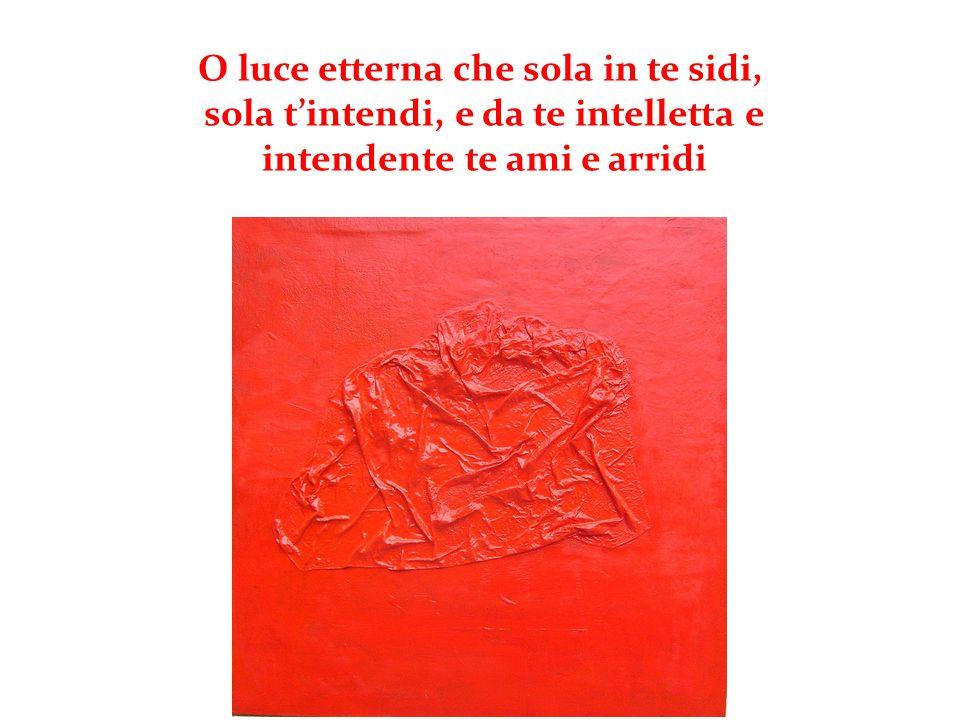 Nel XXXI canto Dante riprende il tema dello splendore della Luce che è distribuita secondo la possibilità di riflettere... [..]chè la luce divina è pe