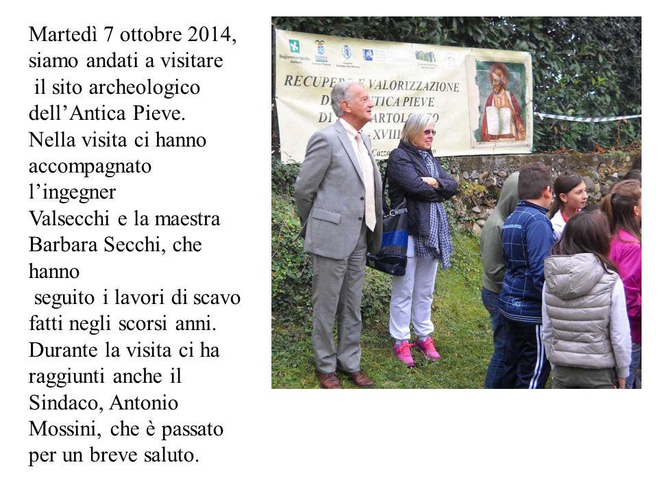 Martedì 7 ottobre 2014, siamo andati a visitare il sito archeologico dell'Antica Pieve.