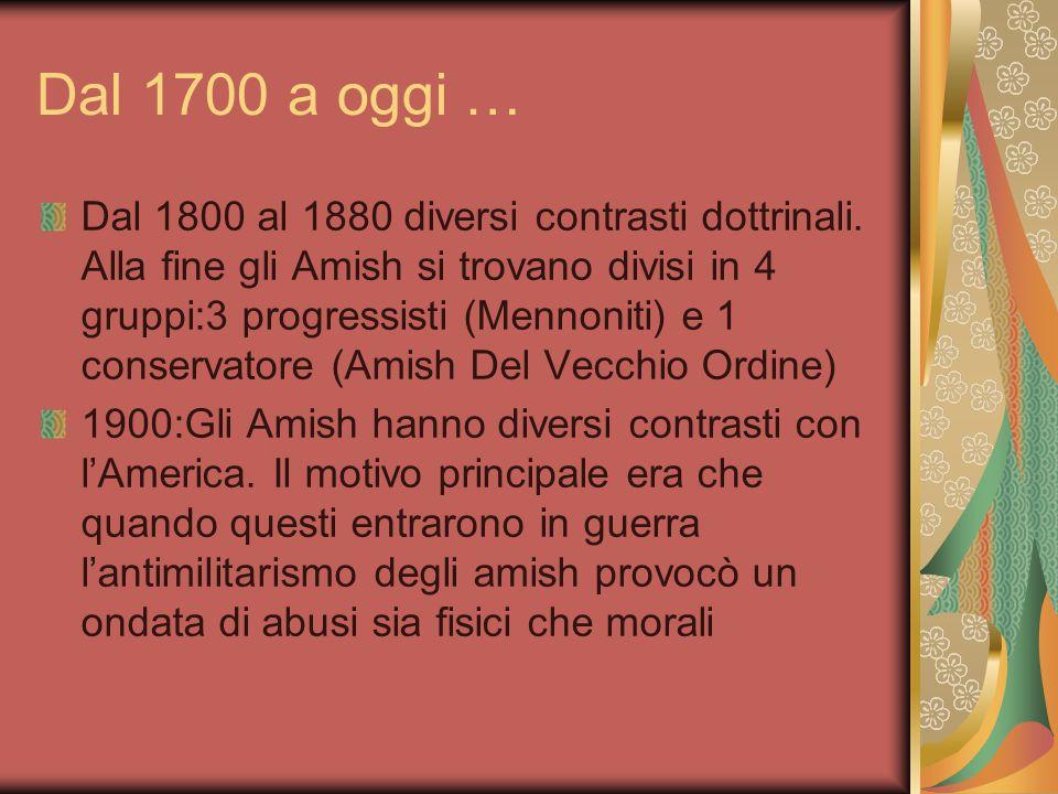 Dal 1700 a oggi … 1700:Sopravvivenza delle chiese libere molto difficile, causa mancanza di stati e leggi date da chi le impone 1800:Dopo la guerra di