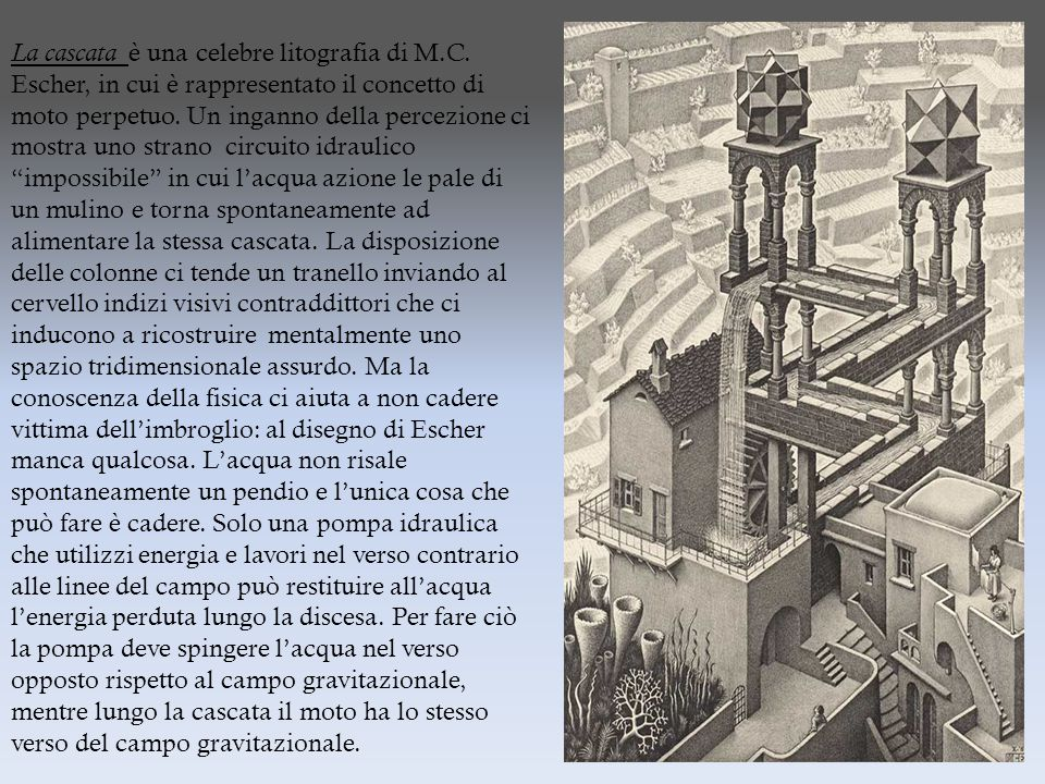 La cascata è una celebre litografia di M.C.