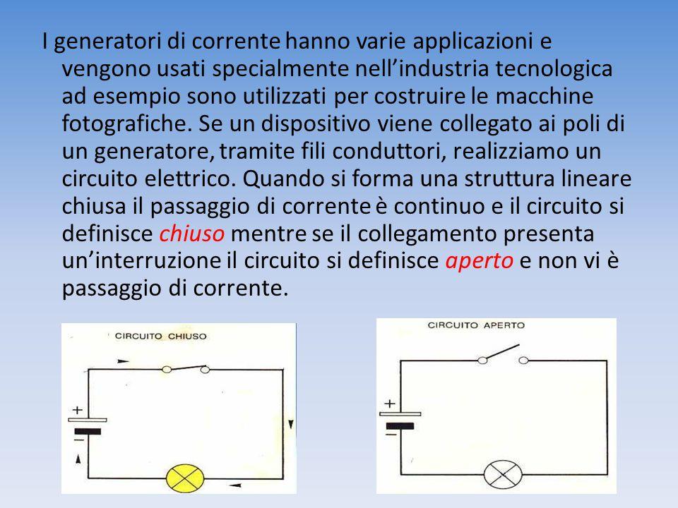 I generatori di corrente hanno varie applicazioni e vengono usati specialmente nell'industria tecnologica ad esempio sono utilizzati per costruire le macchine fotografiche.