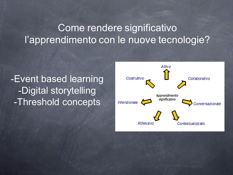 Come rendere significativo l'apprendimento con le nuove tecnologie.