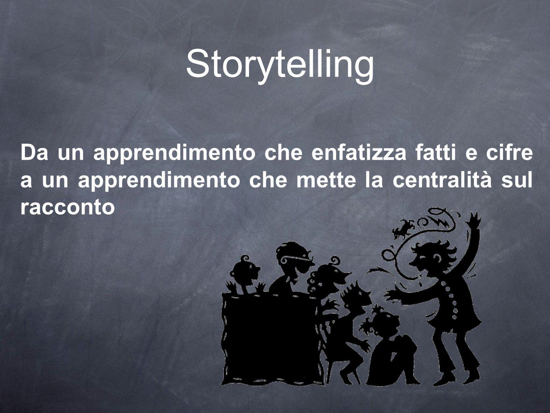 Storytelling Da un apprendimento che enfatizza fatti e cifre a un apprendimento che mette la centralità sul racconto