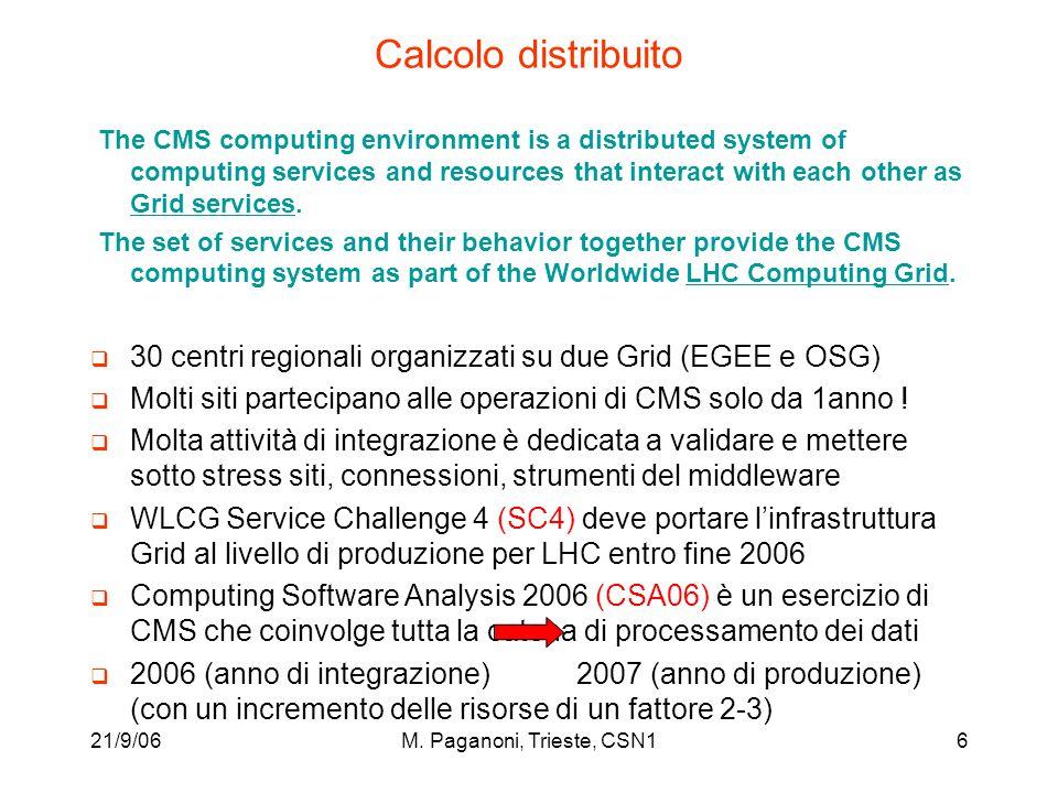 21/9/06M.Paganoni, Trieste, CSN137 Milestones 2006 1) June 2006.