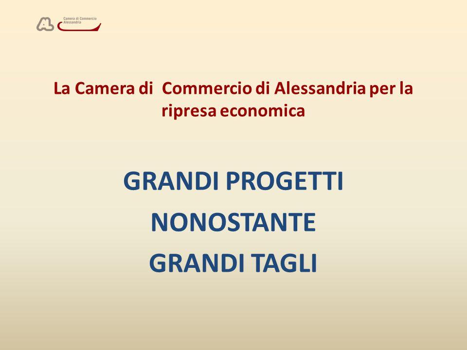 La Camera di Commercio di Alessandria per la ripresa economica GRANDI PROGETTI NONOSTANTE GRANDI TAGLI