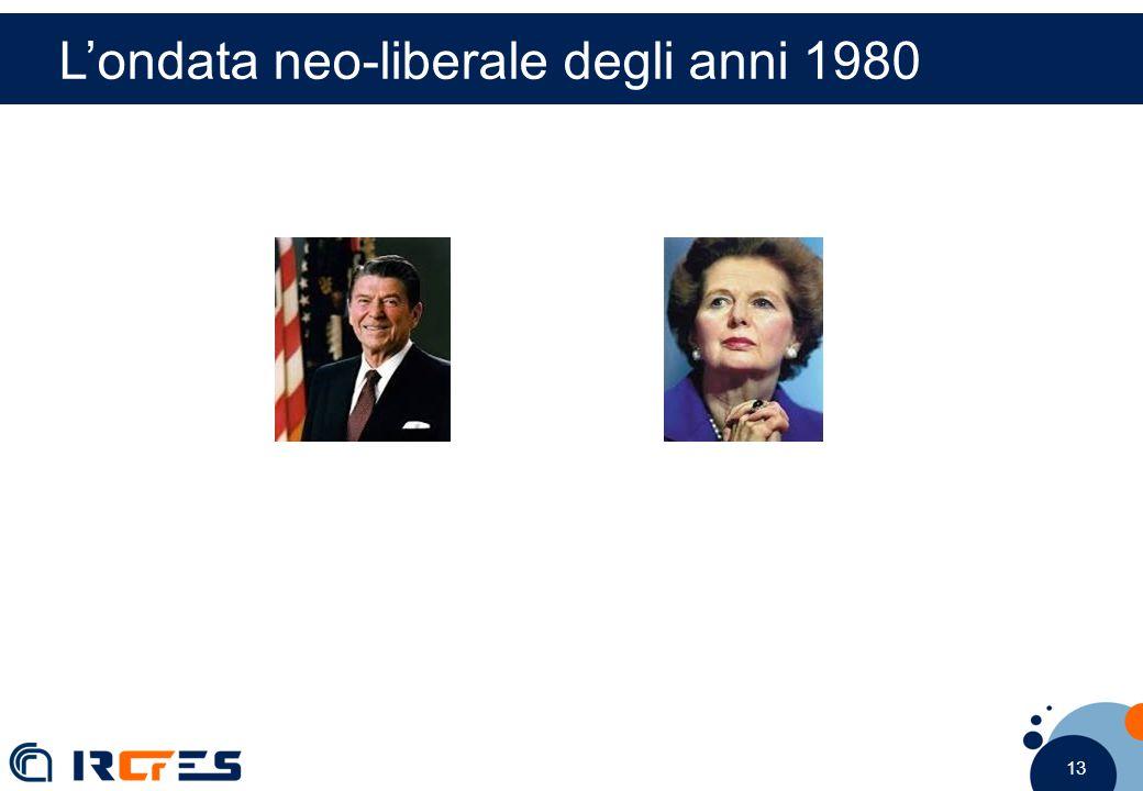 13 L'ondata neo-liberale degli anni 1980