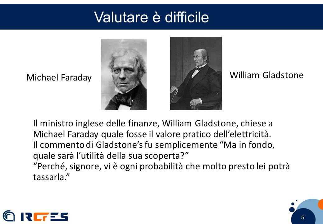5 5 5 Valutare è difficile Il ministro inglese delle finanze, William Gladstone, chiese a Michael Faraday quale fosse il valore pratico dell'elettricità.