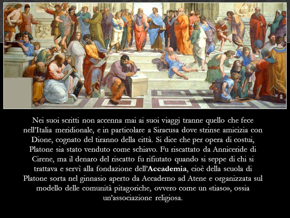 Platone è il primo filosofo di cui ci siano rimaste tutte le opere: l'Apologia di Socrate, 34 dialoghi e 13 lettere.